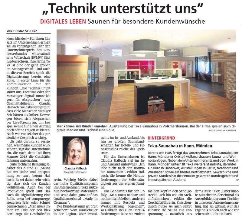 Artikel in der Hessische/Niedersächsische Allgemeine vom 18.03.2020